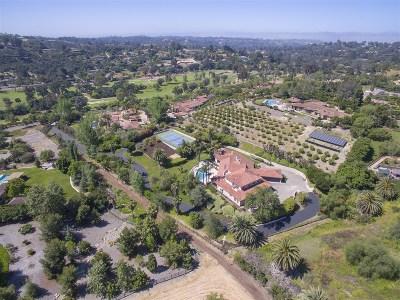 Rancho Santa Fe Single Family Home For Sale: 5228 San Elijo
