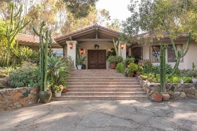 Rancho Santa Fe Single Family Home For Sale: 6997 Via Del Charro