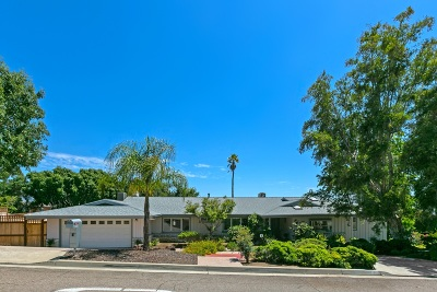 La Mesa Single Family Home For Sale: 10055 Resmar Pl.