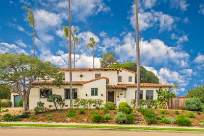 San Diego Single Family Home For Sale: 1068 Santa Barbara Street