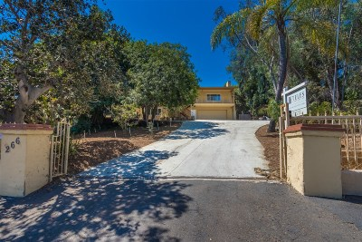 Vista Single Family Home For Sale: 266 Lavender Lane