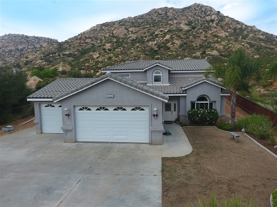 San Diego County Single Family Home Contingent: 25402 Bellemore Drive