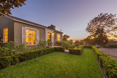 Del Mar Single Family Home For Sale: 561 Van Dyke Ave