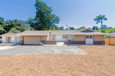 Vista Single Family Home For Sale: 1125 Monte Vista Dr.