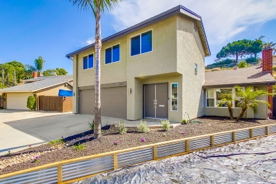 Clairemont, Clairemont East, Clairemont Mesa, Clairemont Mesa East Single Family Home For Sale: 3754 Mount Ashmun Pl