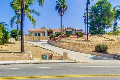 Vista CA Single Family Home For Sale: $625,000