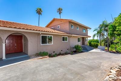 Escondido Single Family Home For Sale: 2655 Rosehill Road