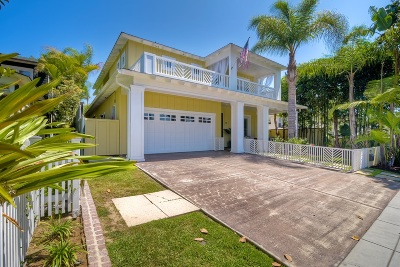 Coronado Single Family Home For Sale: 929 A Avenue