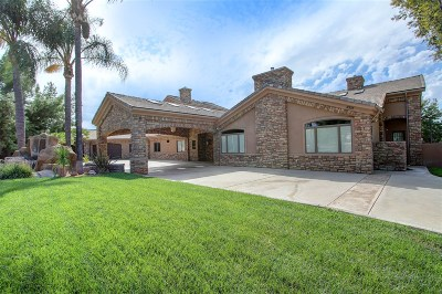 el cajon Single Family Home For Sale: 2215 Springtime Lane