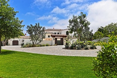 Single Family Home For Sale: 6045 La Jolla Scenic So.