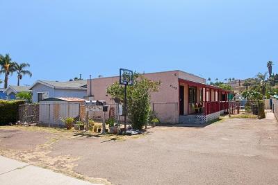 San Diego Multi Family 2-4 For Sale: 4143-4147 Eta Street