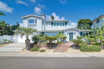 La Jolla Single Family Home For Sale: 5247 Chelsea Ave