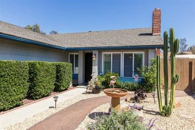 Escondido Single Family Home For Sale: 1412 Red Bark Rd