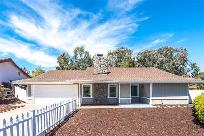 Poway Single Family Home For Sale: 13306 Tawanka Dr