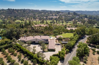Rancho Santa Fe CA Single Family Home For Sale: $5,250,000
