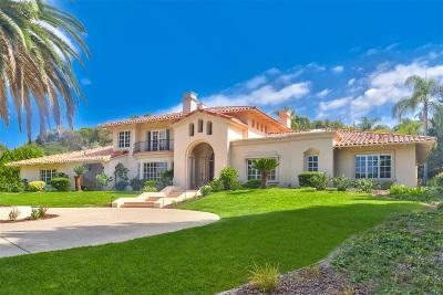 Rancho Santa Fe Single Family Home For Sale: 4625 La Orilla