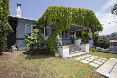Mission Hills, Mission Hills/Hillcrest, Mission Valley Single Family Home For Sale: 802 W Nutmeg St