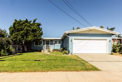 Oceanside Single Family Home For Sale: 1512 Kelly St