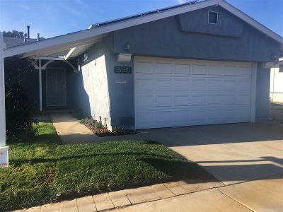 Clairemont Rental For Rent: 3680 Mount Aladin Avenue
