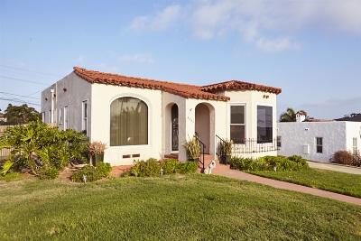 San Diego Single Family Home For Sale: 3263 Hawk Street