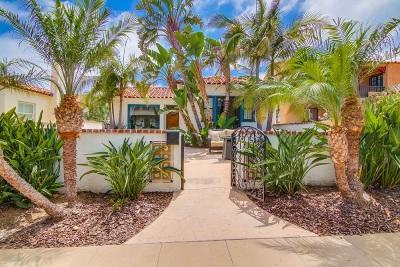 San Diego Single Family Home For Sale: 3111 Elliott St