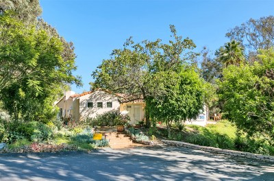 Rancho Santa Fe Single Family Home For Sale: 17591 La Brisa
