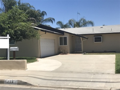 Escondido Single Family Home For Sale: 834 N Beech Street