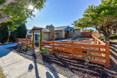 San Diego Single Family Home For Sale: 852 Alvin St