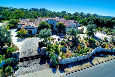Rancho Santa Fe Single Family Home For Sale: 6900 Via Del Charro