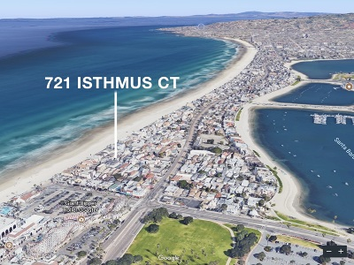 Pacific Beach, Mission Beach Townhouse For Sale: 721 Isthmus Ct