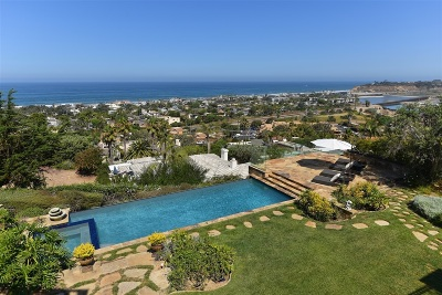 Del Mar CA Single Family Home For Sale: $9,800,000