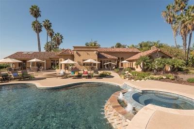Rancho Santa Fe Single Family Home For Sale: 5755 El Montevideo