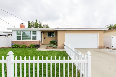 Clairemont Single Family Home For Sale: 3783 Elco St