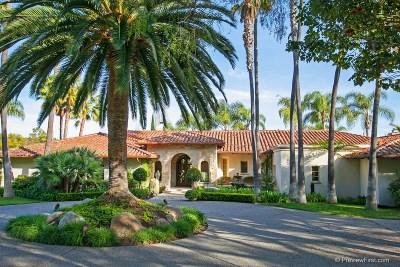 Rancho Santa Fe Single Family Home For Sale: 7045 El Vuelo Del Este