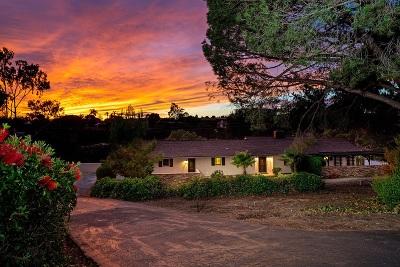 Rancho Santa Fe Rental For Rent: 6269 Las Colinas