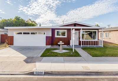 Clairemont Single Family Home For Sale: 5044 Brillo St
