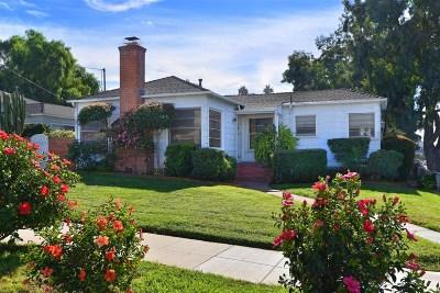 La Jolla Single Family Home For Sale: 701 Arenas St