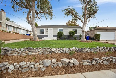San Diego Single Family Home For Sale: 5065 La Dorna St