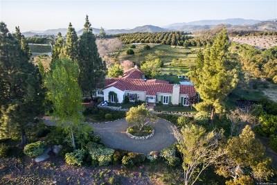 Single Family Home For Sale: 31123 Manzanita Crest