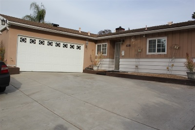 La Mesa Single Family Home For Sale: 5851 Jackson Dr
