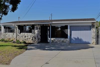 Oceanside Single Family Home For Sale: 810 Santa Paula St