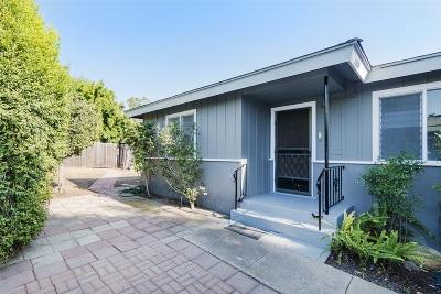 La Mesa Single Family Home For Sale: 5011 Wood Street