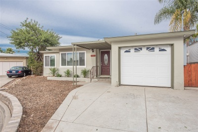 San Diego Single Family Home For Sale: 6312 Cleo St.