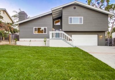 El Cajon Single Family Home For Sale: 178 N Cuyamaca St