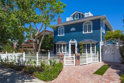 Coronado Single Family Home For Sale: 441 A Avenue