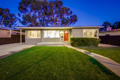 La Mesa Single Family Home For Sale: 4579 Terry Ln