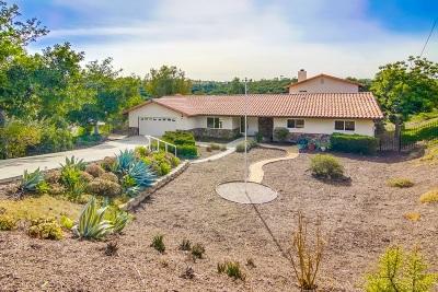 San Diego County Single Family Home For Sale: 328 Camino Del Cerro Grande