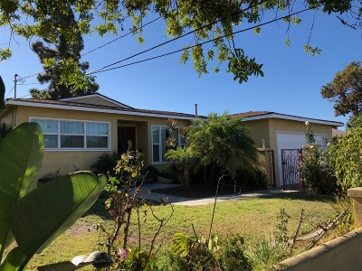 San Diego Single Family Home Contingent: 5127 Palin St