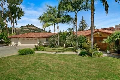 Fallbrook Single Family Home For Sale: 560 Puerta De Lomas