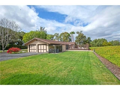 Rancho Santa Fe Single Family Home For Sale: 6923 La Valle Plateada